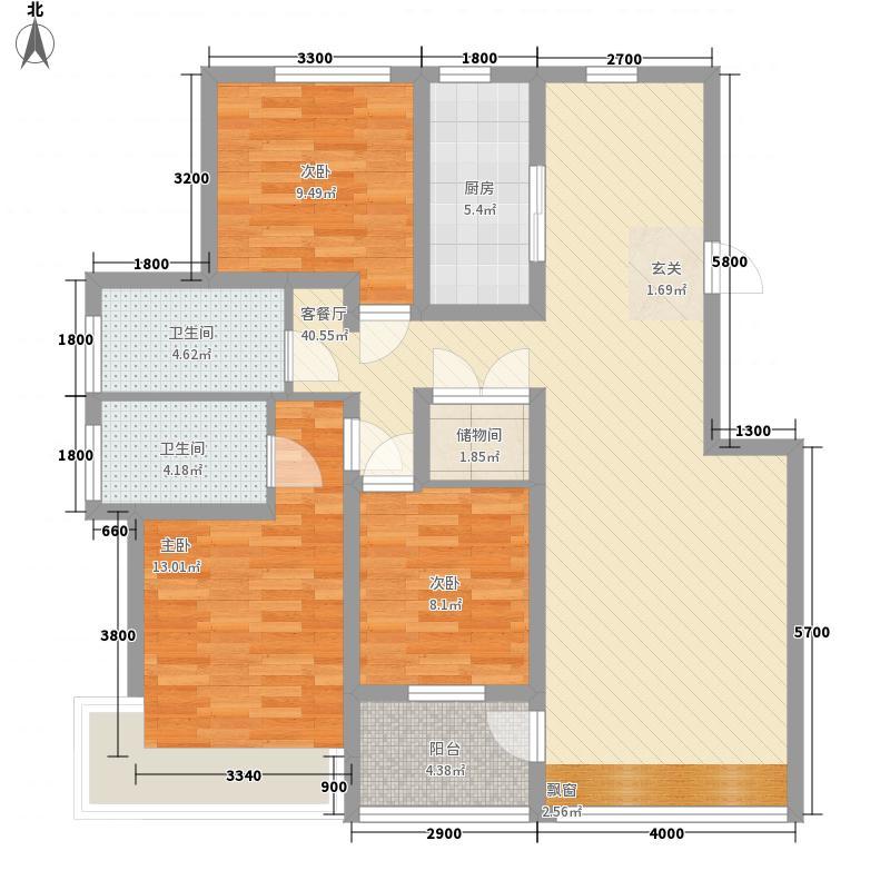 威海石岛碧海鹏城2010101392140户型3室2厅2卫1厨