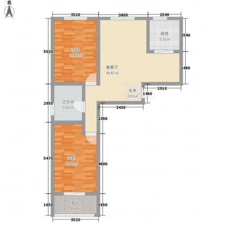 舜承大厦2室1厅1卫1厨113.00㎡户型图