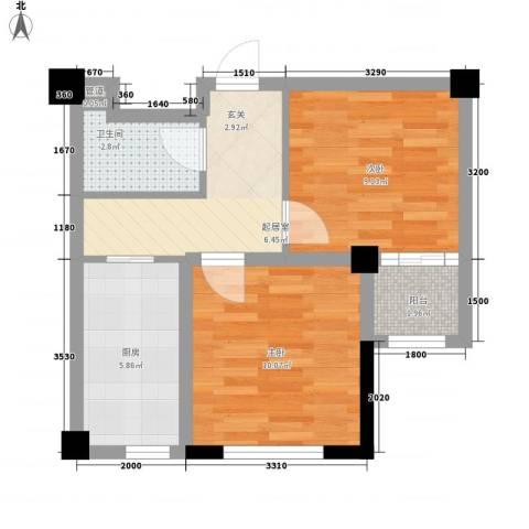 金港馨都2室0厅1卫1厨54.00㎡户型图