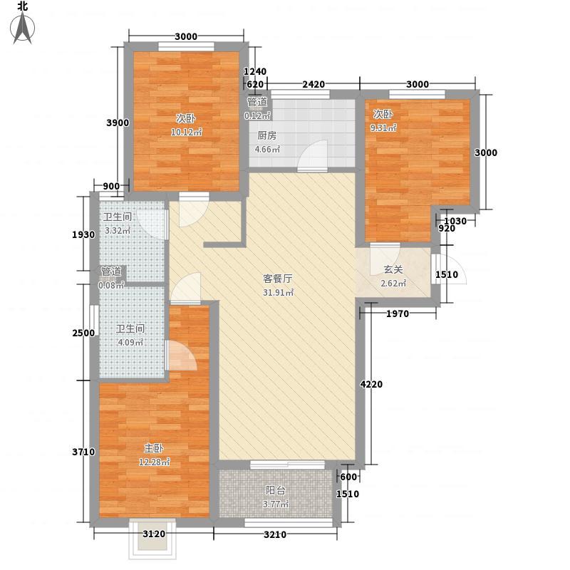 中凯景湖豪庭户型3室