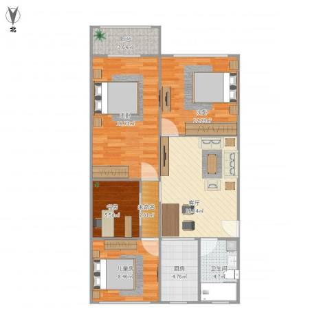 平南三村4室1厅1卫1厨99.00㎡户型图