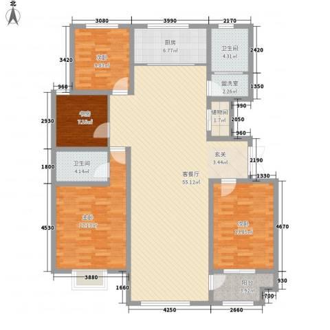 景泰铭城4室2厅2卫1厨179.00㎡户型图