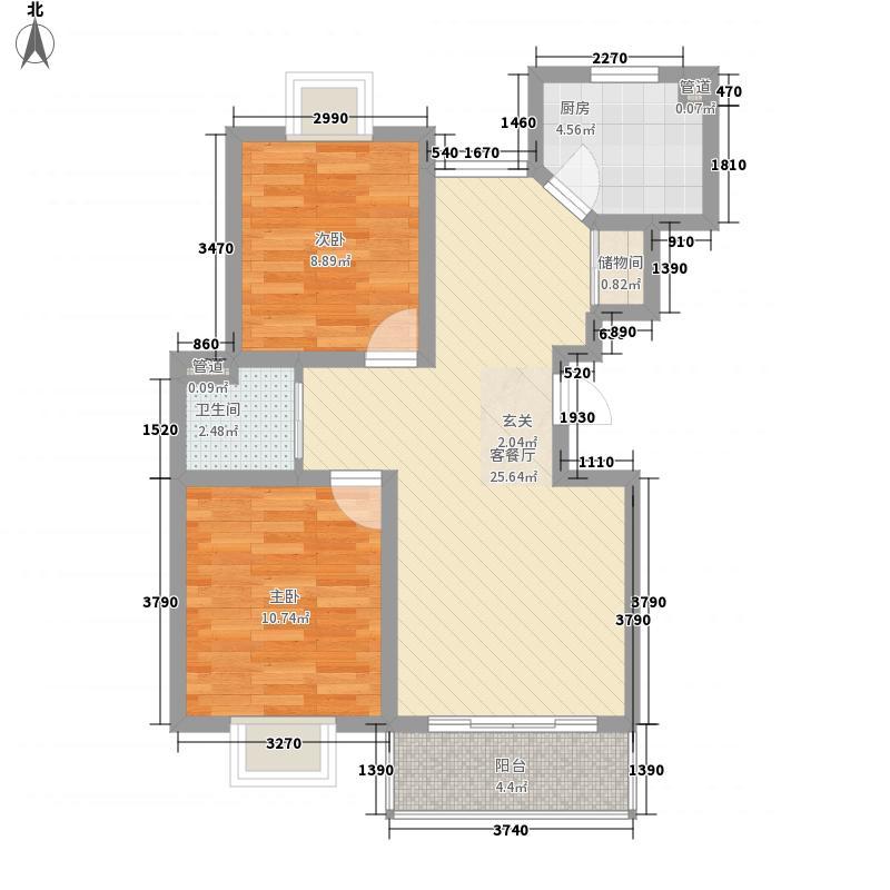 同盛公寓84.00㎡户型2室