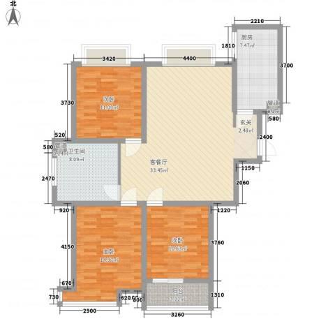 华光嘉苑3室1厅1卫1厨127.00㎡户型图