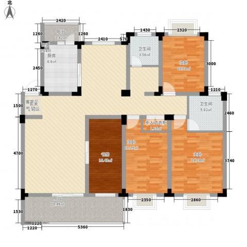 康城水云间4室1厅2卫1厨176.00㎡户型图