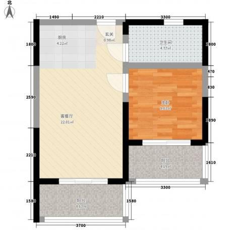 合景・月亮湾1室1厅1卫0厨53.00㎡户型图