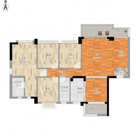 盈悦豪庭4室2厅2卫1厨155.00㎡户型图