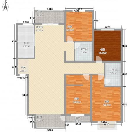 文泽苑4室1厅2卫1厨216.00㎡户型图