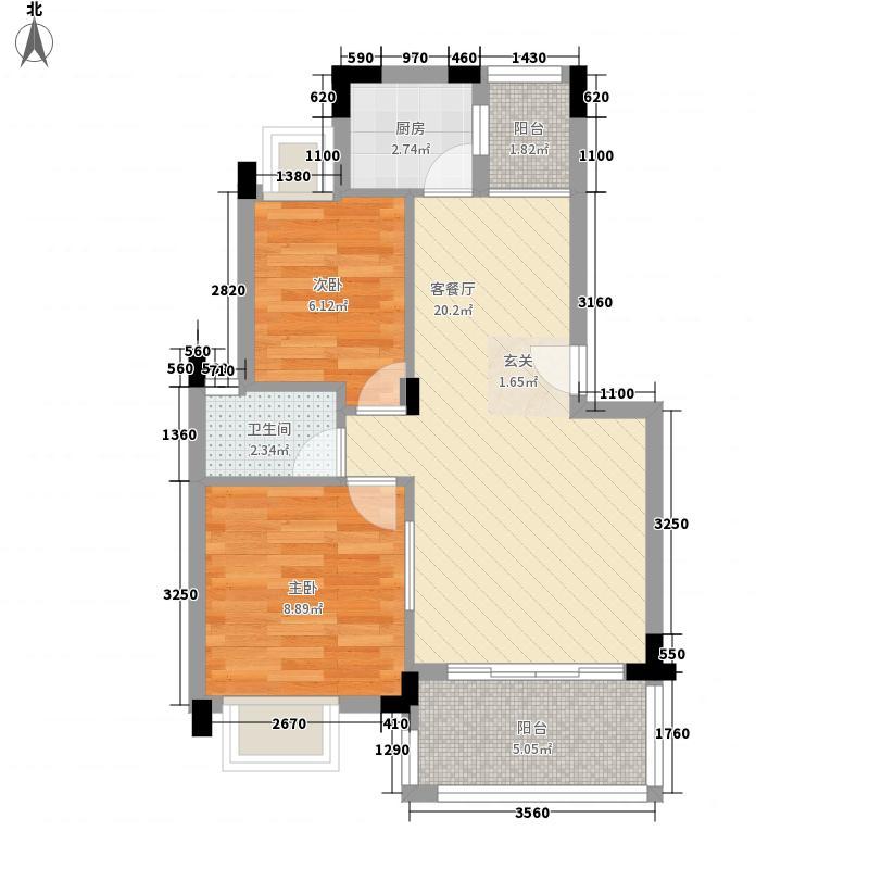 建工集团宿舍68.00㎡户型2室