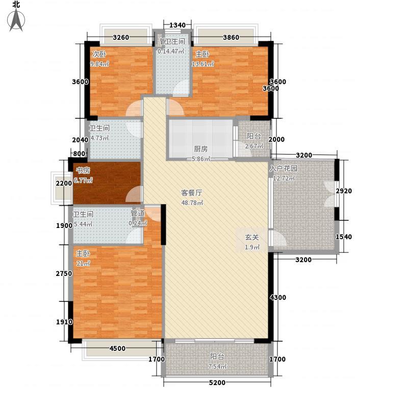 奥园海景城174.00㎡B1栋03户型4室2厅3卫1厨