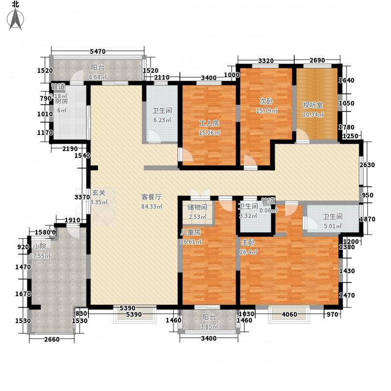 朗诗绿色街区256.00㎡户型5室
