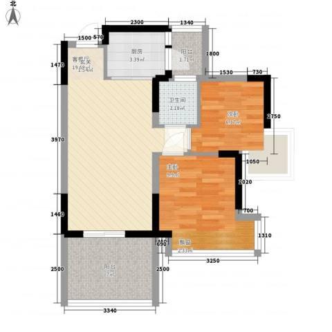 四海花园2室1厅1卫1厨73.00㎡户型图
