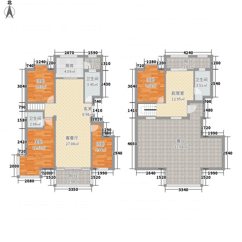 锦华名居188.41㎡原味北欧(复式)户型4室3厅2卫1厨