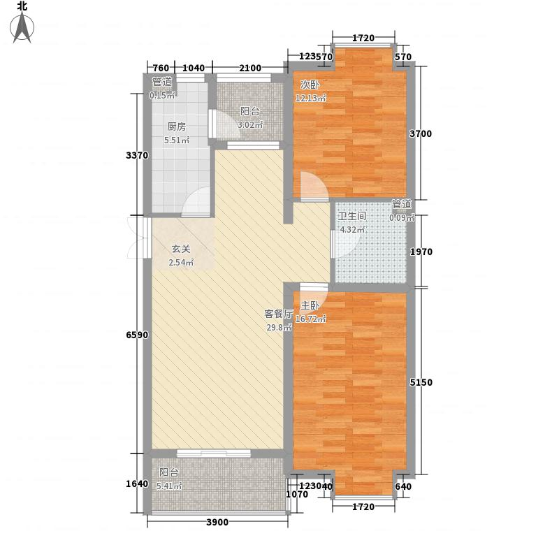 京鲁山庄户型2室