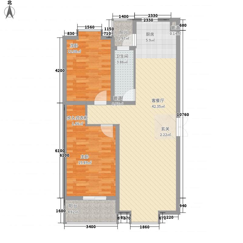 京鲁山庄12.00㎡户型2室