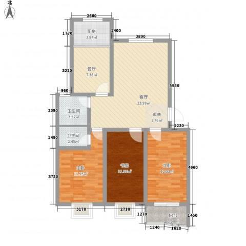 南国风光2室2厅2卫1厨115.00㎡户型图