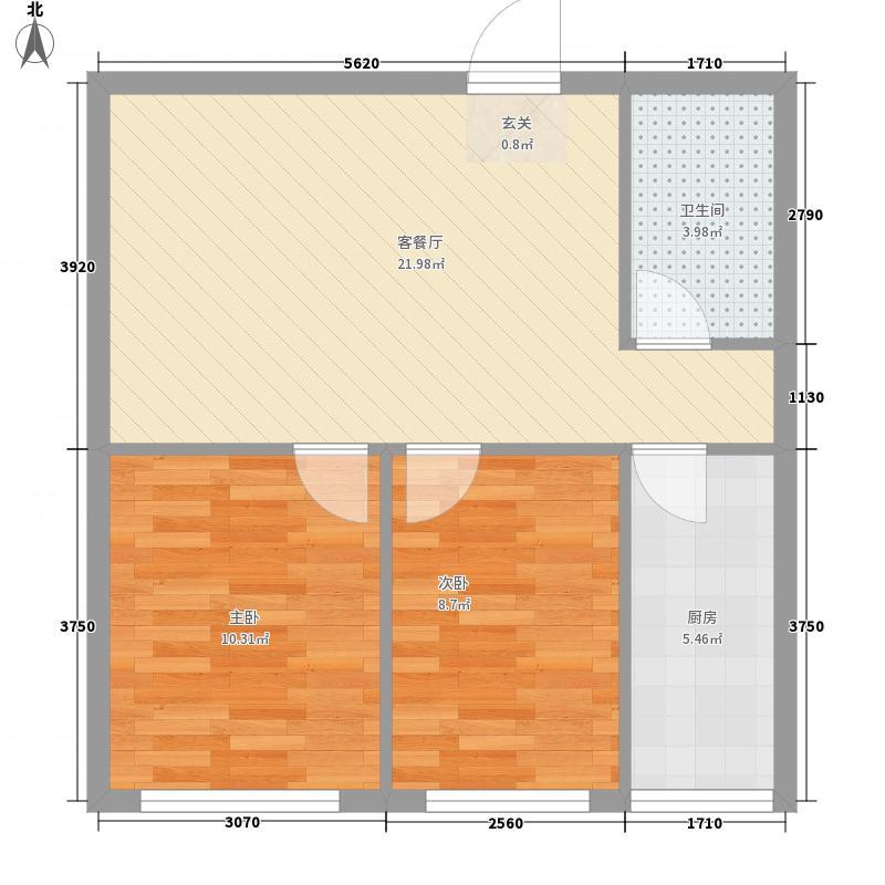 金海湾花园4户型2室2厅1卫1厨