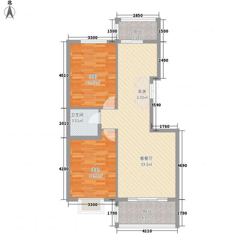 新城公寓户型2室