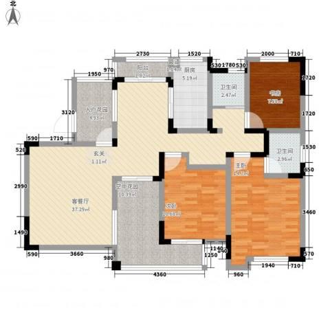 金色庭园3室1厅2卫1厨145.00㎡户型图
