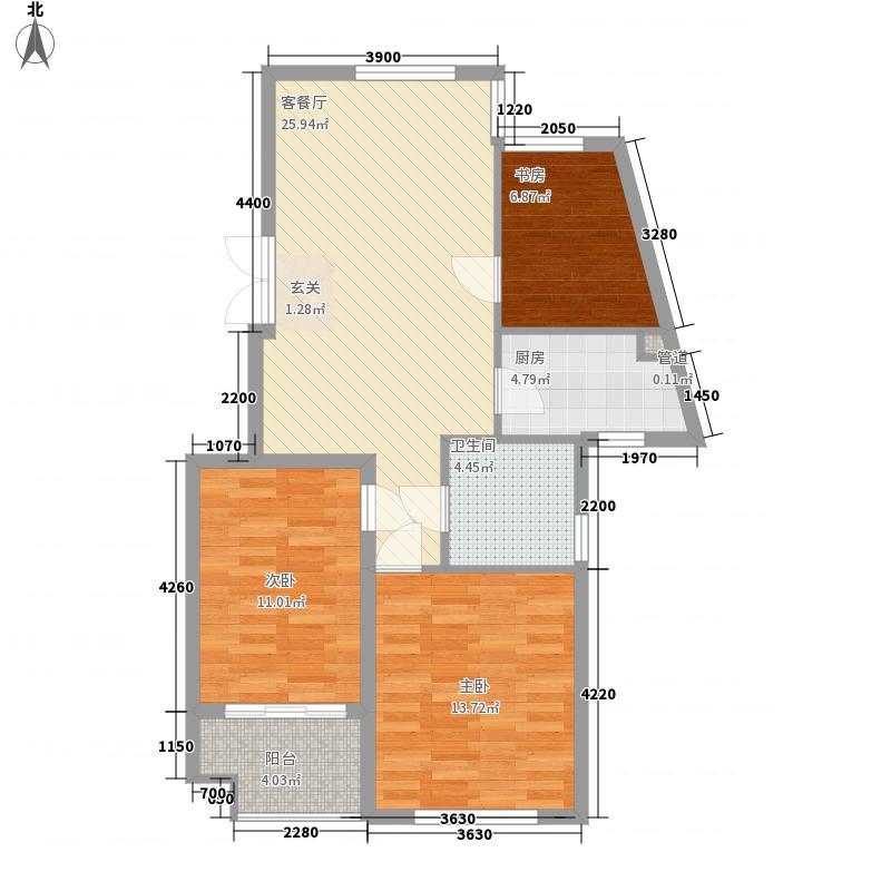 嘉丽广场30户型3室2厅2卫1厨