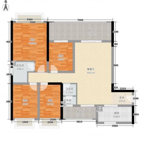 DADA的草地4室1厅3卫1厨106.56㎡户型图