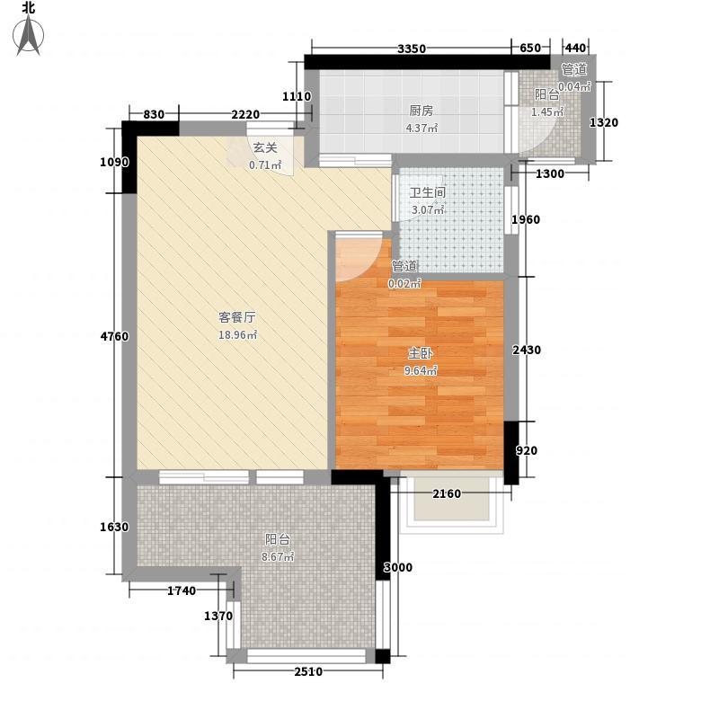 DADA的草地51.21㎡B户型1室2厅1卫