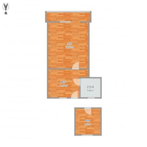 流水东苑16-3-3041室1厅1卫1厨72.00㎡户型图