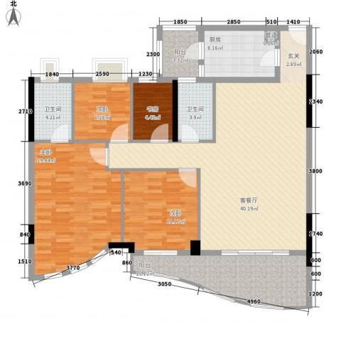 逸景翠园映月居4室1厅2卫1厨156.00㎡户型图
