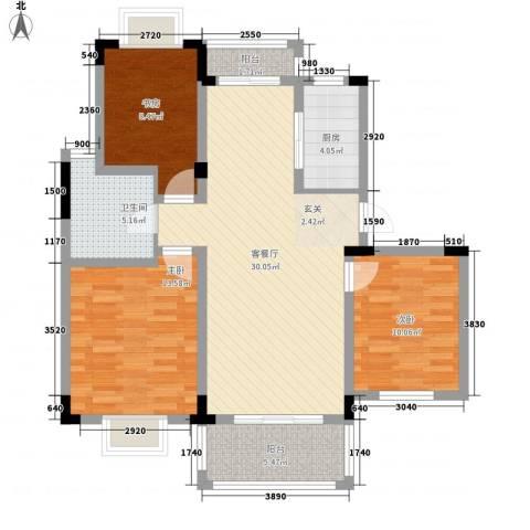 新华阳光国际3室1厅1卫1厨97.00㎡户型图