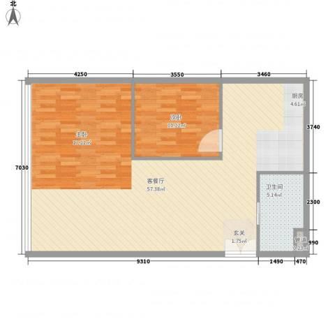 凯铂精品酒店1室1厅1卫0厨79.20㎡户型图