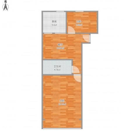 流水北苑7-3-5032室1厅1卫1厨74.00㎡户型图