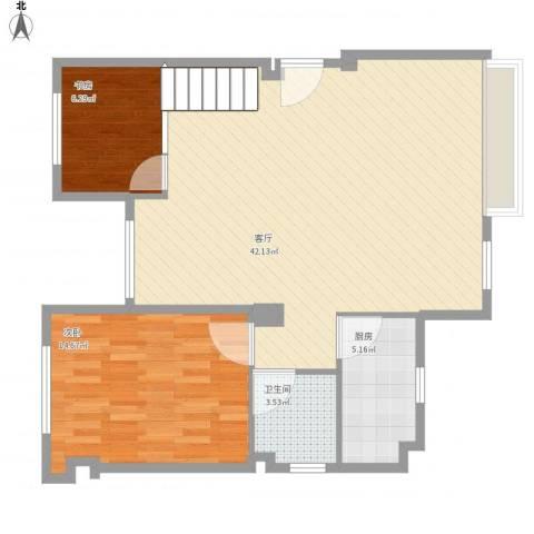 港昌新苏格兰2室1厅1卫1厨98.00㎡户型图