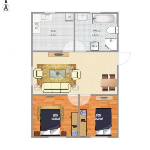协和花苑58--1112室1厅1卫1厨108.00㎡户型图