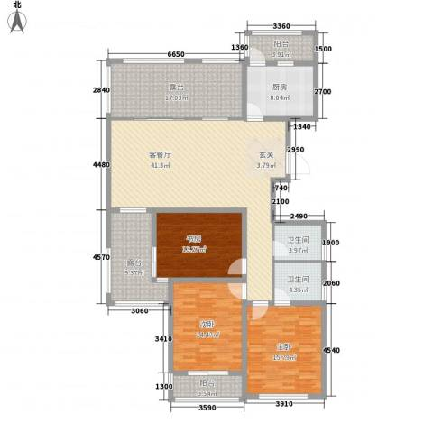 天徽天鹅湖9号3室1厅2卫1厨191.00㎡户型图