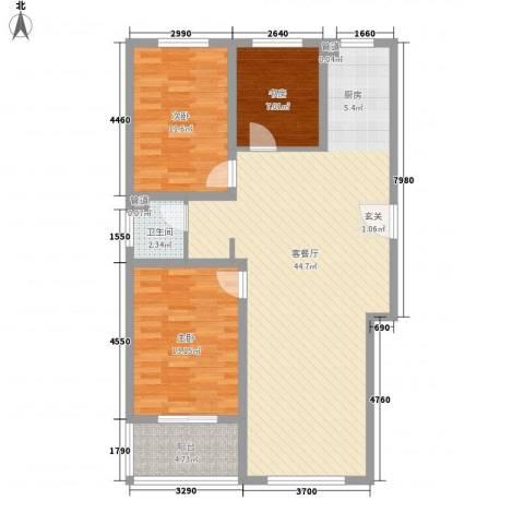 树林新村3室1厅1卫0厨118.00㎡户型图