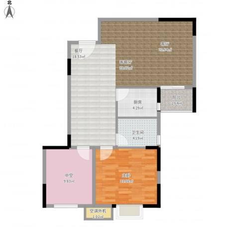 新乡星海传说1室1厅1卫1厨101.00㎡户型图