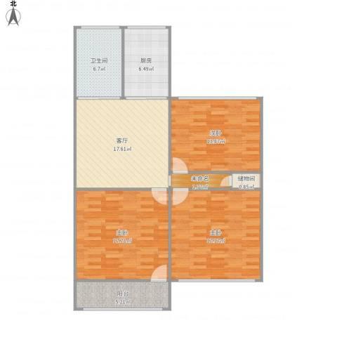 叙丰里41栋5013室1厅1卫1厨118.00㎡户型图