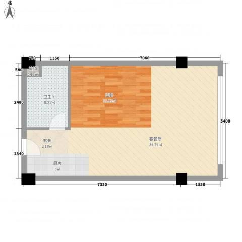 杰特公寓1厅1卫0厨78.00㎡户型图