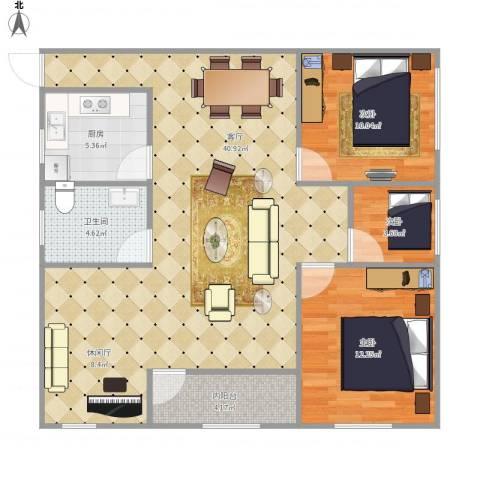 万家灯火7100913室1厅1卫1厨109.00㎡户型图