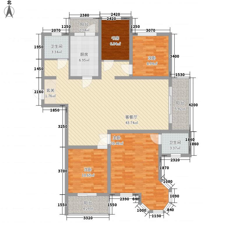 清泉文苑111.00㎡户型3室