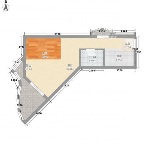 圣陶沙海景假日公寓1厅1卫0厨51.00㎡户型图