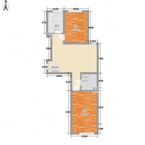圣罗伦斯・巴比伦2室1厅1卫1厨75.00㎡户型图