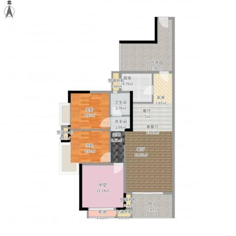 新乡星海传说2室1厅1卫1厨126.00㎡户型图