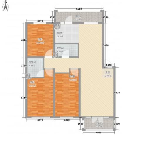 南郡二期丽郡3室1厅2卫0厨181.00㎡户型图
