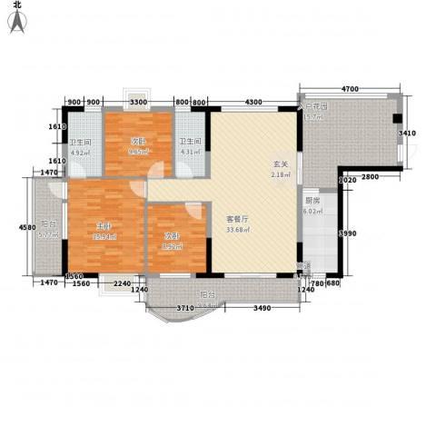 圣堤亚纳3室1厅2卫1厨137.00㎡户型图
