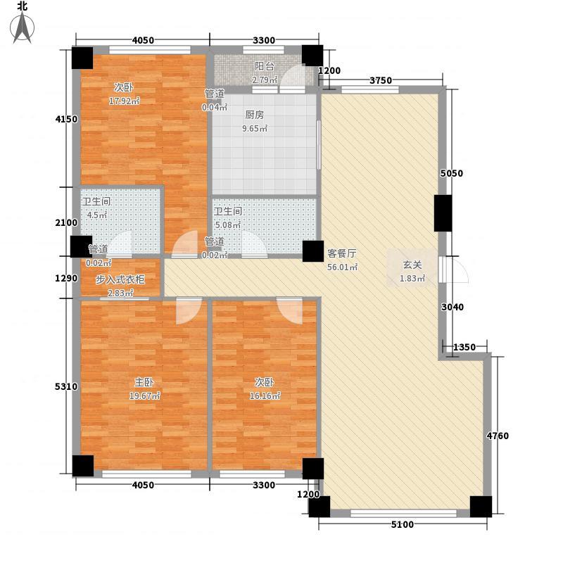 米兰D.C16.00㎡米兰DC3户型3室2厅2卫1厨