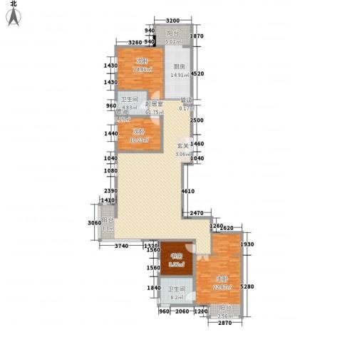 北京华侨城4室0厅2卫1厨214.00㎡户型图