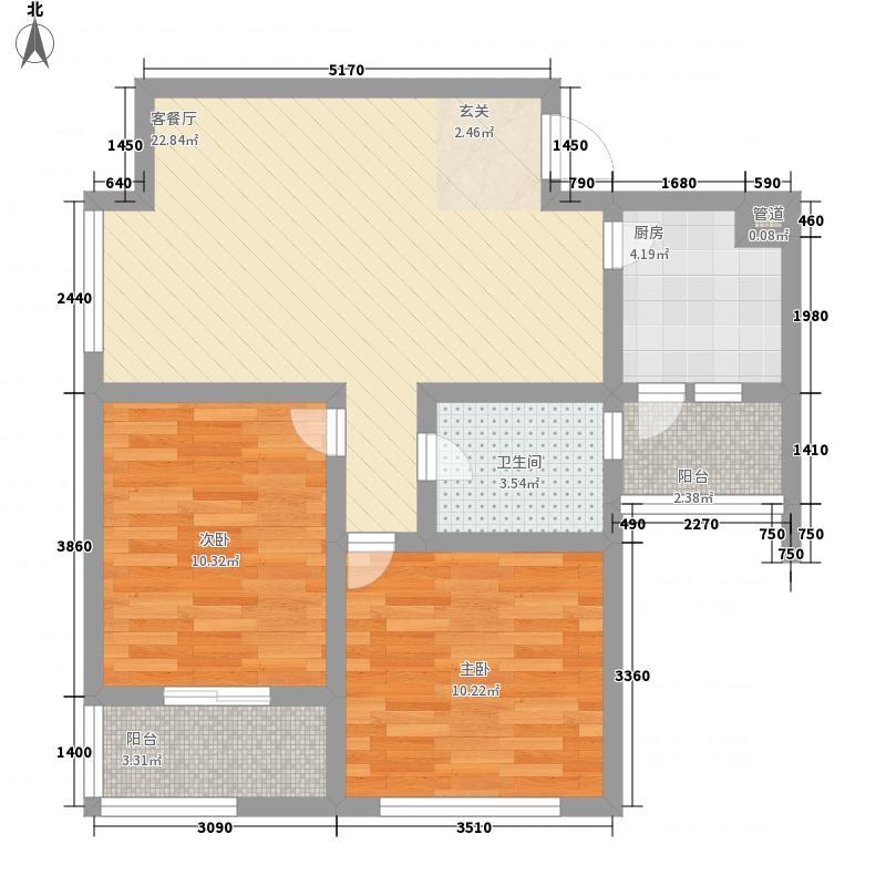 桂花园85.00㎡桂花园户型图M2室2厅1卫1厨户型2室2厅1卫1厨