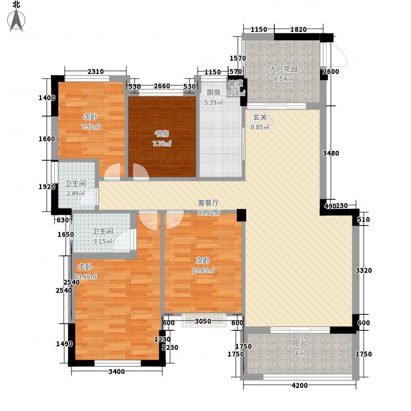 供电新苑138.00㎡户型4室