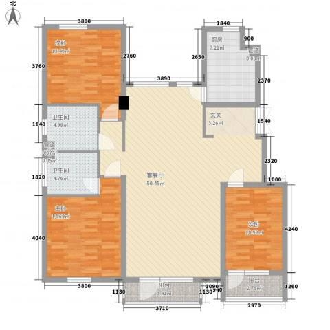 江户雅致3室1厅2卫1厨159.00㎡户型图